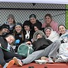 Paul DiCicco - The News-Herald<br />  Lake Catholic's JV team keeping warm under their canopy.