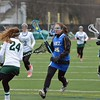 Paul DiCicco - The News-Herald<br /> NDCL's Christina Judy approaches the goal and readies for a shot.