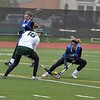 Paul DiCicco - The News-Herald<br /> Lake Catholic's Sara Seacrist and NDCL's Christina Judy, tussle over a loose ball.