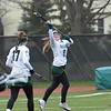 Paul DiCicco - The News-Herald<br /> Lake Catholic's Abbey Turk makes an athletic catch late in the first half against NDCL.