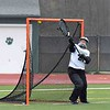 Paul DiCicco - The News-Herald<br /> Lake Catholic's Goalie, Julia Mancini watches this shot go just outside her reach.