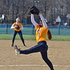 Paul DiCicco - The News-Herald<br />  Wickliffe's Senior pitcher, Kelsey Lauriel, pitching against Chagrin Falls.