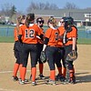 Paul DiCicco - The News-Herald<br /> Chagrin Falls infield conferencing at the mound.