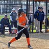 Paul DiCicco - The News-Herald<br /> Chagrin Falls Senior, Kaleigh Clark swinging at a pitch.