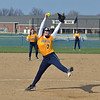 Paul DiCicco - The News-Herald<br /> Wickliffe Senior pitcher, Kelsey Lauriel, pitching a shut-out against Chagrin Falls.  Wickliffe won 17-0 on Apr 12.