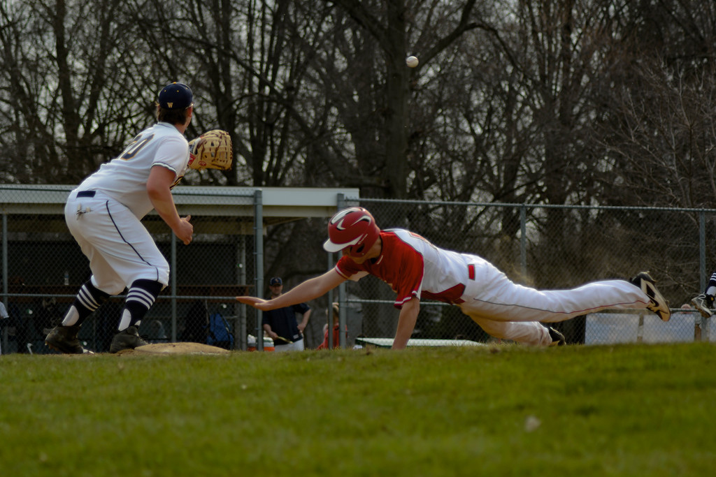 . Sami Butler - The News-Herald Action from the April 13 Perry-Wickliffe baseball game.