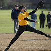 Michael Johnson - The News-Herald<br /> Riverside Pitcher Rosie Rinderman throws a pitch during an away game against Willoughby South.  Riverside defeated South 7-1 at Willoughby South High School.