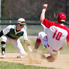 Barry Booher - The News-Herald<br /> Lake's Nick Caplick tags out Perry's Michael Blaha trying to steal.