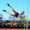 Brittany Chay - The News-Herald<br /> Wickliffe's Ravenna Bala participates in the pole vault April 16 at the Gene Kobus Perry Relays.
