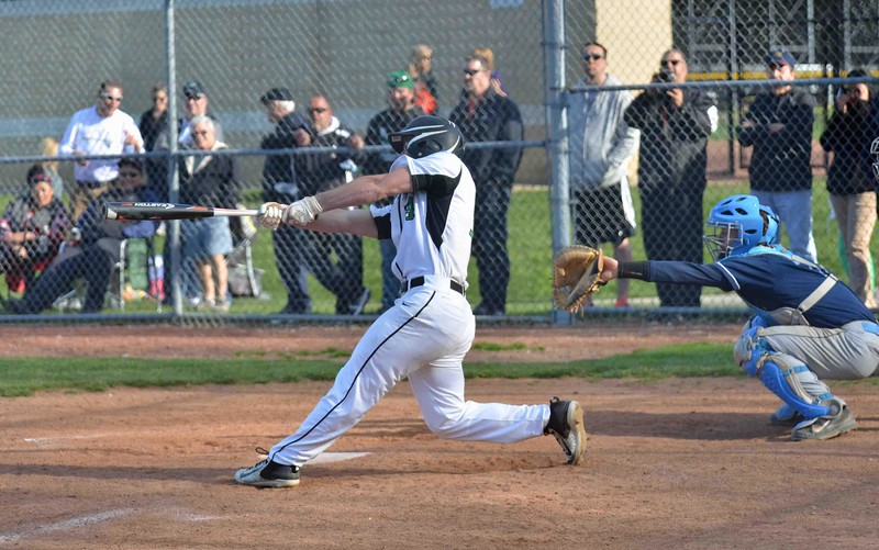 Paul DiCicco - The News-Herald<br /> Michael Canganelli fouling off a pitch in the fifth inning.