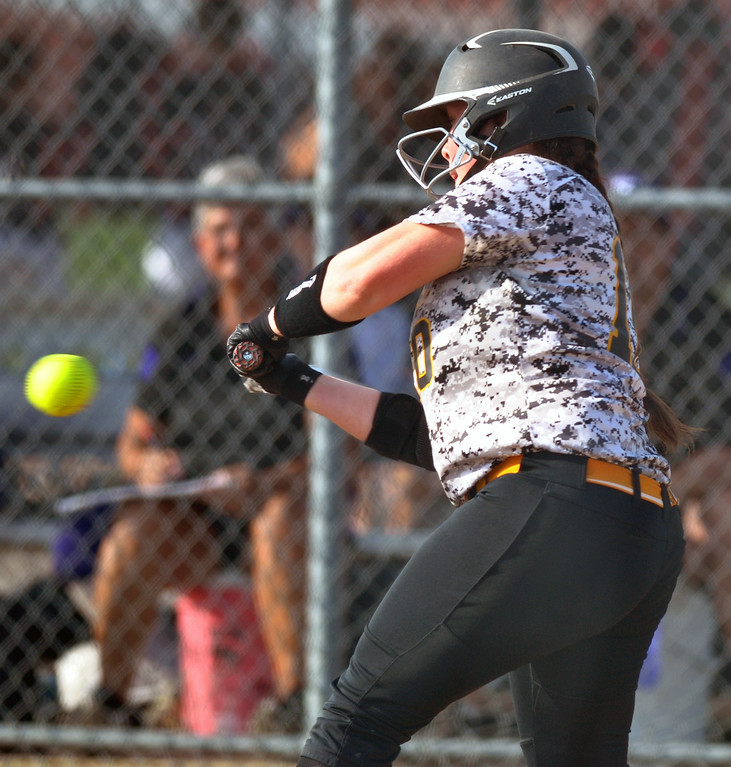 . Jon Behm - The Morning Journal Black River\'s Kaitlyn Unangst takes a swing during the top of the third inning against Keystone on April 18 at LaGrange Community Park.