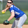 Jon Behm - The Morning Journal<br /> Midview sophomore short stop Gabby Shackelford prepares to gun to first during the bottom of the second inning against Amherst on April 20 in Amherst.