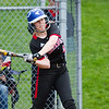 Barry Booher - The News-Herald<br /> Chardon's Kayla Pereziuso connects for a base hit during the Blue Streaks' 2-1 victory over Chardon on April 21.
