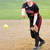 Barry Booher - The News-Herald<br /> Chardon's Kayla Preeziuso pitches to Madison during the Blue Streaks' 2-1 victory over Chardon on April 21.