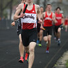 Michael Johnson - The News-Herald<br /> Chardon's Josh Mtzung performs in the Men's Distance Medley Relay during the Ranger Relays at North High School on April 23, 2016.