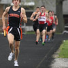 Michael Johnson - The News-Herald<br /> Chagrin's Joe Bistritz gains a large lead during the first leg of the Men's Distance Medley Relay during the Ranger Relays at North High School on April 23, 2016.