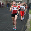 Michael Johnson - The News-Herald<br /> Chardon's Rachel Banks leading the pack in the Women's 1600 Meter race during the Ranger Relays at North High School on April 23, 2016.