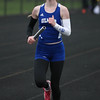 Michael Johnson - The News-Herald<br /> Kelly Davis of Gilmour performs in the Women's 4x800 Meter Relay during the Ranger Relays at North High School on April 23, 2016.