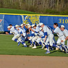 Paul DiCicco - The News-Herald<br /> NDCL running victory sprints, holding off Lake Catholic, 8-7 on Apr 24.