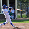 Paul DiCicco - The News-Herald<br />  NDCL's Sam Frontino connecting on a pitch early in the game against Lake Catholic on Apr 24.