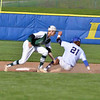 Paul DiCicco - The News-Herald<br /> Lake Catholic's Mark Bell tags an NDCL baserunner.