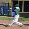 Paul DiCicco - The News-Herald<br /> Lake Catholic's Aaron Valentine connecting on a hit to clear the bases and put Lake Catholic ahead against NDCL on Apr 24.