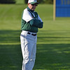 Paul DiCicco - The News-Herald<br />  Lake Catholic head coach, Dennis Woods, patrolling 3rd base.