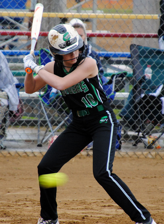 . Jon Behm - The Morning Journal Columbia\'s Jill Grzywana passes on a low pitch during the bottom of the fifth inning against Nordonia on April 28 at Wellington Community Park.