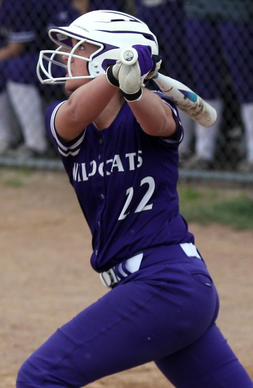 . Randy Meyers - The Morning Journal Keystone\'s Brooke Piazza watches her hit clear the outfield fence for a home run against Perry on April 28.
