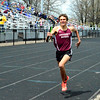 Brittany Chay - The News-Herald<br /> University's JP Trojan runs during the Mentor Cardinal Relays on April 30.