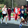 Brittany Chay - The News-Herald<br /> Mentor's Robbie Seaton runs during the Mentor Cardinal Relays on April 30.
