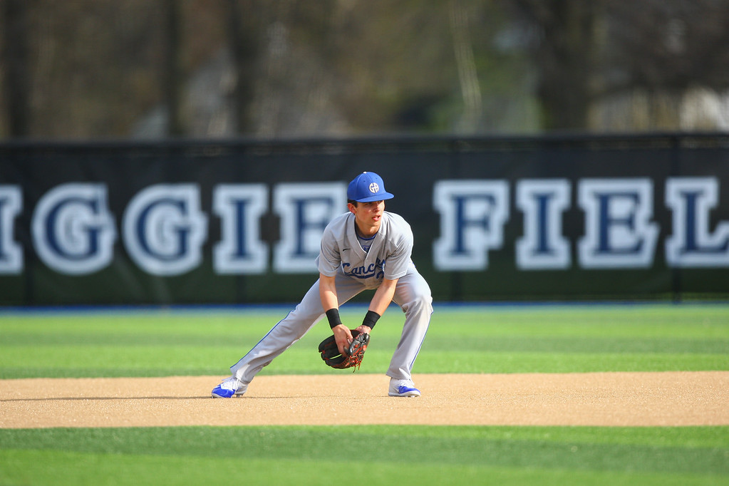 . David Turben - The News-Herald 2018 - Baseball - US at Gilmour.  Gilmour defeated US 10-1 during the inaugural game at Gilmour new Figgie Field.