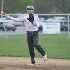 Michael Johnson - The News-Herald<br />  Mark Delisio of Willoughby South throws to 1st base for an out during the South vs Kenston baseball game at Willoughby South High School on May 4, 2016.  South defeated Kenston 7-3.