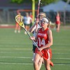 Paul DiCicco - The News-Herald<br /> Mentor's Katelyn Stuart heading for a score in the second half.