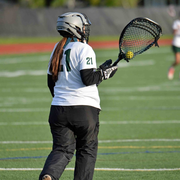 . Paul DiCicco - The News-Herald Lake Catholic\'s goalie, Julia Mancini, held Mentor in check all game.