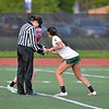 Paul DiCicco - The News-Herald<br /> Lake Catholic's Kati Druzina and Mentor's Alyson McMahon face off late in the game.