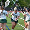 Paul DiCicco - The News-Herald<br /> Lake Catholic Senior, Kathryn Sutton pumps up the team as she comes through the tunnel.