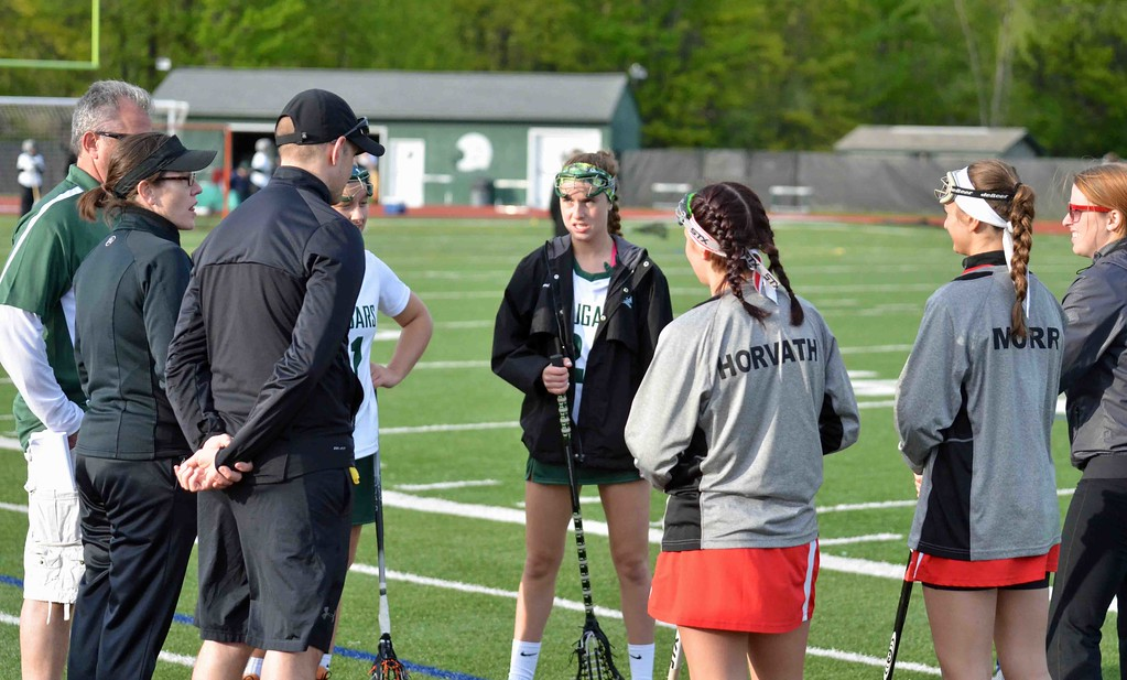 . Paul DiCicco - The News-Herald Mentor and Lake Catholic square off in the battle of Mentor.  Rules and the coin flip between captains on May 10.