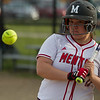 Mentor's Kelly Mullins watches a pitch go by during a game against Shaker Heights at Mentor High School on May 10, 2017.  Mentor defeated Shaker 10-0.