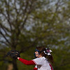Meri Bobrovsky of Mentor throws a pitch during a game against Shaker Heights at Mentor High School on May 10, 2017.  Mentor defeated Shaker 10-0.