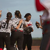 Shaker Heights infielders meet at the mound before the start of their game at Mentor High School on May 10, 2017.  Mentor defeated Shaker 10-0.