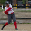 Sarah Harasyn of Mentor swings at a pitch during a game against Shaker Heights at Mentor High School on May 10, 2017.  Mentor defeated Shaker 10-0.