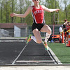 Michael Johnson - The News-Herald<br /> Perry's Grace McGarry performs in the Long Jump Event during the CVC Chagrin division Track and Field Championships at Orange High School on May 11, 2016.