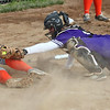 Randy Meyers - The Morning Journal<br /> Keystone catcher Summer Metcalf is  late with the tag at home plate as Padua's Sam Lusnek slides in safely on May 11.