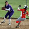 Randy Meyers - The Morning Journal<br /> Keystone shortstop Madi Nunez forces out Devan Peterson of Padua at second base on May 11.