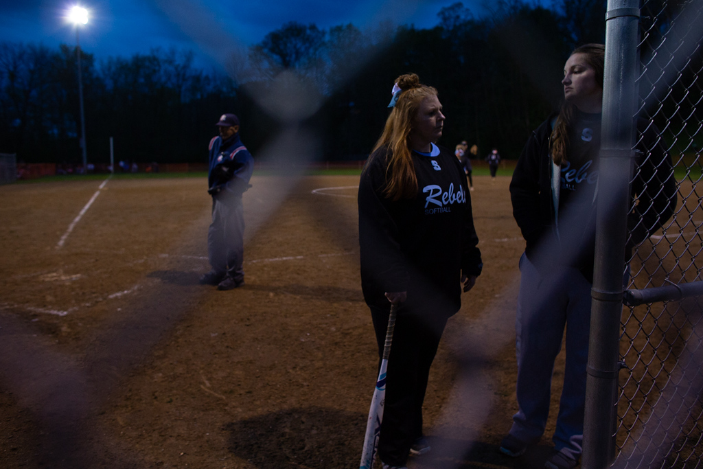 . Michael Johnson - The News-Herald Erin Dodson of South stands outside of the dugout prior to the start of the North vs South game on May 11, 2018.