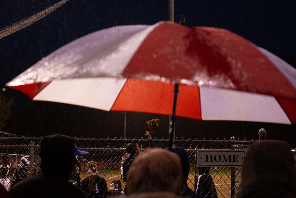 . Michael Johnson - The News-Herald A scene from a rainy night at Todd Field on May 11, 2018.
