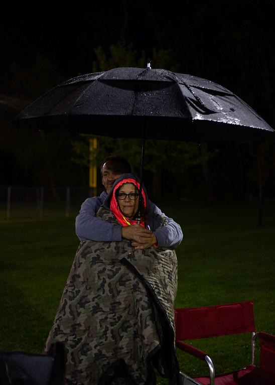 . Michael Johnson - The News-Herald Michele and Joe Meier watch the North vs. South game on May 11, 2018.