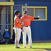 Paul DiCicco - The News-Herald<br />  Chagrin Falls Head Coach, Michael Sweeney, talks strategy with his batter, Colin Kennedy.