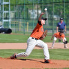 Paul DiCicco - The News-Herald<br /> Chagrin Falls pitcher, Erik Wilson's first pitch against the Ravenna Ravens in the District semi-finals on May 15.